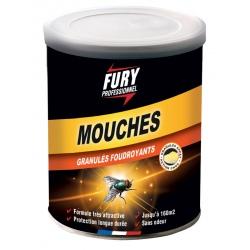 Lot de 6 boites Fury mouches granulés foudroyants 400 g