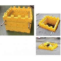 Kit blindage de fouille Trüdom 1mx1mx0,65m 16 plaques jaune
