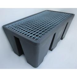 Bac 2 futs éco 130x70x56 cm