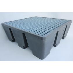 Bac 4 futs éco 129x129x47 cm