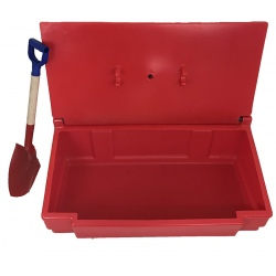 Bac à sable/sel 50 lavec pelle rouge