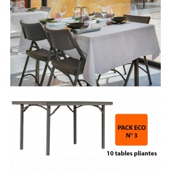 Pack Eco 3 : 10 tables pliantes Excellence 137,16 x 91,44 cm