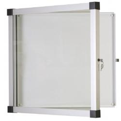 Vitrine extérieure Oasis fond métal porte plexi 6 A4 H70,4xL75,8 cm