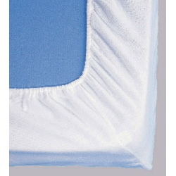 Protège matelas drap housse molleton coton enduit 170g 90x190 cm