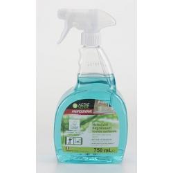 Nettoyant dégraissant toutes surfaces Ecolabel en spray 750 ml (le lot de 6)