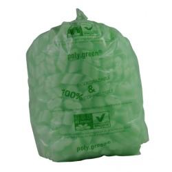 Sacs type 10L vert biodégradable 350x480 (le carton de 500)