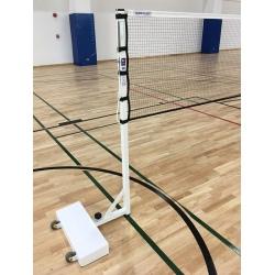 Poteaux badminton compétition embase 60 kg modèle FFBAD (la paire)