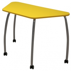Table maternelle mobile Lucie 120 x 60 x 60 cm mélaminé chants ABS T3