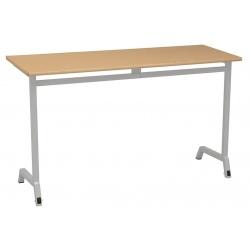 Table maternelle mobile Maud 120 x 50 cm mélaminé chants ABS T3