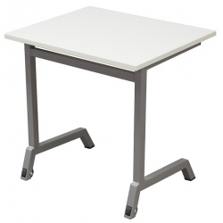 Table scolaire mobile Maud 70 x 50 cm mélaminé chants ABS T4 A 6