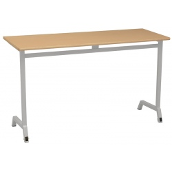 Table scolaire mobile Maud 130 x 50 cm stratifié chants ABS T4 A 6