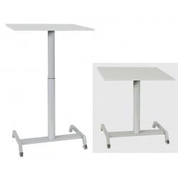 Table scolaire mobile et réglable en hauteur Maud 70 x 50 cm mélaminé chants ABS