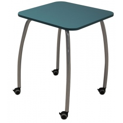 Table scolaire mobile Lucie 65 x 65 cm mélaminé chants ABS T6