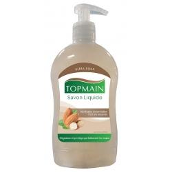 Lot de 12 pompes de savon liquide amande Topmain 500 ml