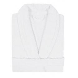 Peignoir col châle Narcisse 320g blanc