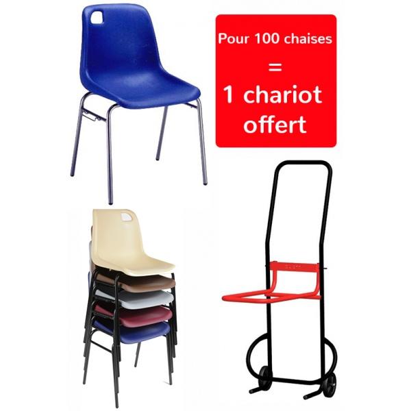 Chaise coque Lara M2 empilable et assemblable (1 chariot offert pour 100 chaises)