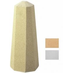 Borne Aralia blanche ou ocre H76 cm