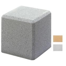 Borne Thuya blanche ou ocre 45x45x45 cm