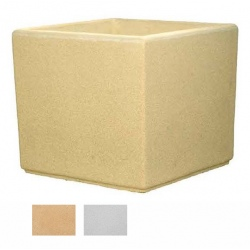 Jardinière carrée myrtille blanche ou ocre 90x90x80 cm