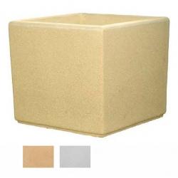 Jardinière carrée myrtille blanche ou ocre 120x120x80 cm