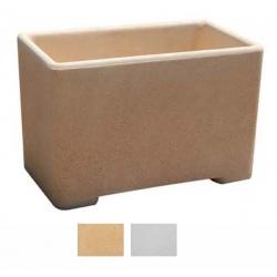 Jardinière rectangle myrtille blanche ou ocre 100x34x43 cm