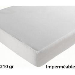 Lot de 6 protèges matelas drap housse imperméable coton et pu 210g 160x190 cm