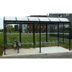 Abri vélos La Rochelle L 500 x P 212 cm