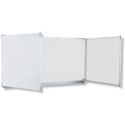 Triptyque Classic NF émail e3 blanc feutre H120xL200 cm