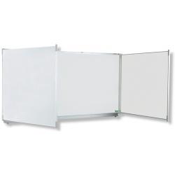 Triptyque Classic NF émail e3 blanc feutre H120xL240 cm