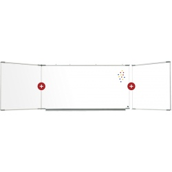 Triptyque Solution émail e3 intérieur blanc feutre extérieur vert craie H100 x L200 cm