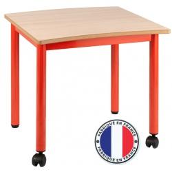 Table maternelle modulable plateau stratifié 21 mm 60 x 60 cm T2