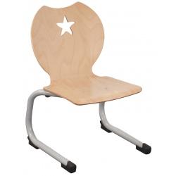 Chaise coque bois appui sur table Etoile T2