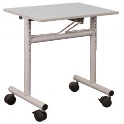 Table scolaire mobile et rabattable stratifié 24 mm chant PP 70 x 50 cm