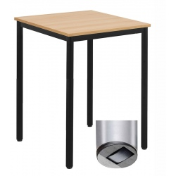 Table de restauration mobile Flore 24 mm stratifié chant PP 80 x 80 cm