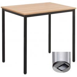 Table de restauration mobile Flore 24 mm stratifié chant PP 120 x 80 cm