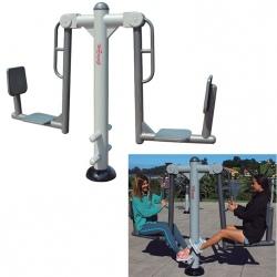 Fitness extérieur : Etirement des jambes