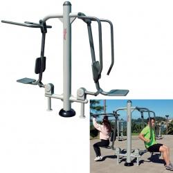 Fitness extérieur : Élévateur-Flexion des bras