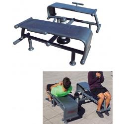 Fitness extérieur : Double banc abdominaux