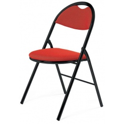 Chaise pliante Florence tissu M1 pieds noirs