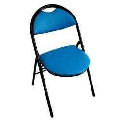 Chaise pliante Florence tissu enduit M2 pieds noirs