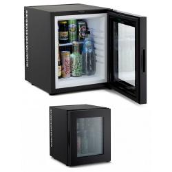 Minibar silencieux 32 L noir porte vitrée L38 x P44 x H46,5 cm