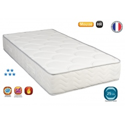 Matelas mousse HR 35 Estoril ép 25 cm 140x190cm