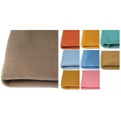 Lot de 20 couvertures unies ourlée 2 cotes polyester Trévira non feu M1 75x100 cm