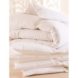 Lot de 3 couettes 260x240 cm 400g blanc 100% coton et fibres