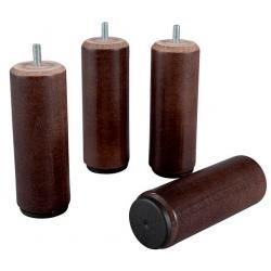 Pied bois cylindrique diam 55 h 15 cm coloris wengé
