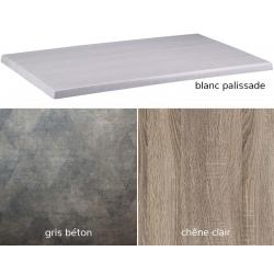 Plateau stratifié intérieur/extérieur Exteriolit 70x70 cm