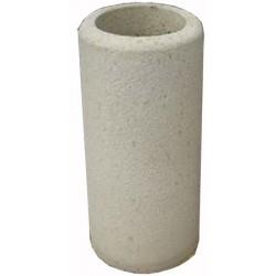 Cendrier béton diam 32xH70 cm ton pierre sablé