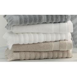 Serviette de toilette 100% coton bio blanc 50x100 cm 500g