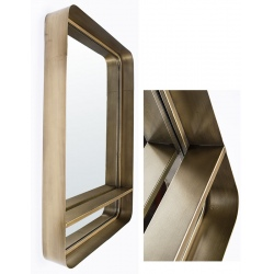 Miroir Indus doré avec étagère L61,5 x H92 cm