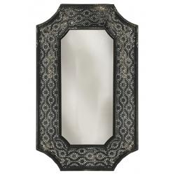 Miroir Métal Romana noir L61 x H100 cm